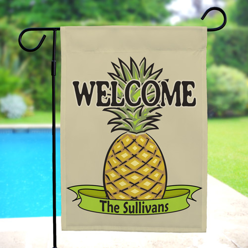 Personalized Pineapple Welcome Garden Flag | Personalized Garden Flags