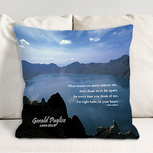 Personalized Memorial Throw Pillow Sympathy Gift 83021103