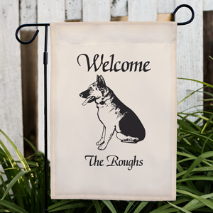Welcome Dog Breed Personalized Garden Flag | Personalized Garden Flags