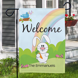 Happy Easter Garden Flag