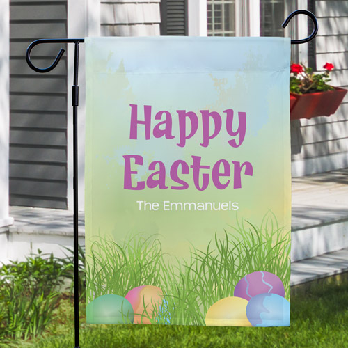 Easter Joy Garden Flag | Personalized Easter Flags