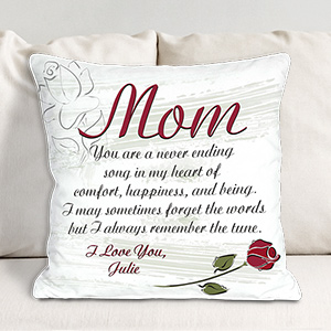 Personalized A Mother's Song Throw Pillow 83027153