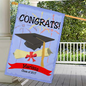 Personalized Graduation House Flag 83028272L