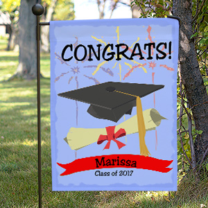 Personalized Graduation Congrats Garden Flag