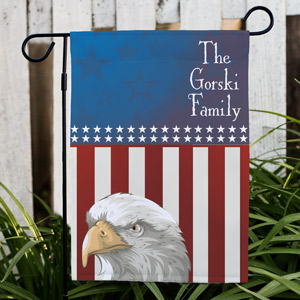 Personalized Patriotic Garden Flag | Patriotic Gifts