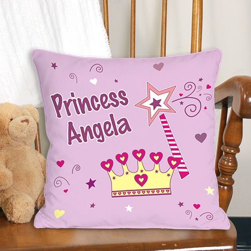 Custom Printed Princess Throw Pillows | Personalized Gifts For Kids