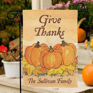 Give Thanks Personalized Garden Flag 83030692