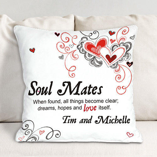 Personalized Soul Mates Throw Pillow 83032213