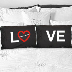 Personalized Love Pillowcase Set 83032420BK