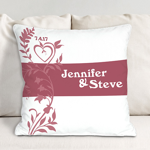 Our Wedding Day Personalized Throw Pillow 83033253