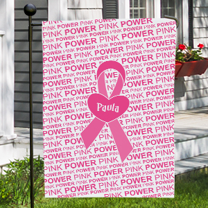 Personalized Breast Cancer Awareness Garden Flag 83034812