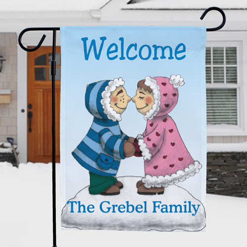 Eskimo Couple Personalized Garden Flag | Personalized Garden Flags