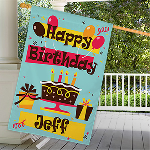 Personalized Happy Birthday House Flag | Personalized House Flags