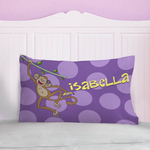 Personalized Monkey Pillow | Personalized Pillowcases