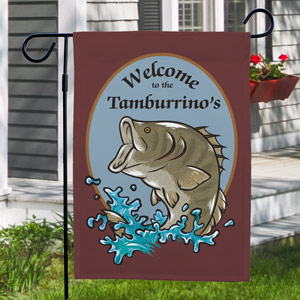 Bass Fishing Personalized Welcome Garden Flag 83036912
