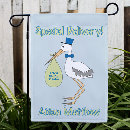 Special Delivery Baby Boy Announcement Garden Flag 83036922