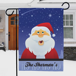 Santa Personalized Christmas Garden Flag | Personalized Christmas Flags