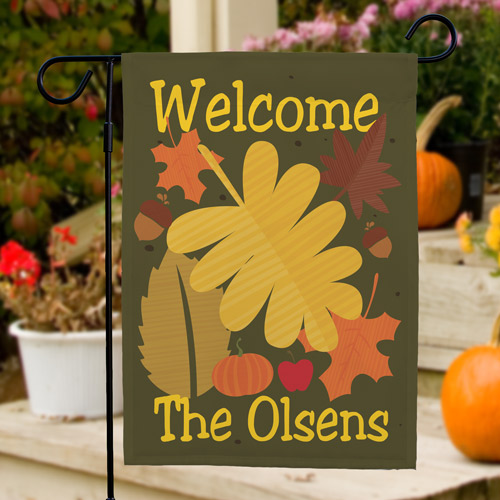 Welcome Fall Personalized Garden Flag | Personalized Garden Flags