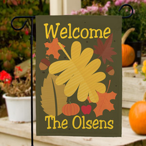 Welcome Fall Personalized Garden Flag 83037232