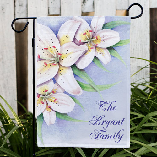 Personalized Easter Lily Garden Flag | Personalized Garden Flags