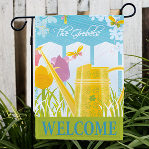 Personalized Watering Can Garden Flag 83039742