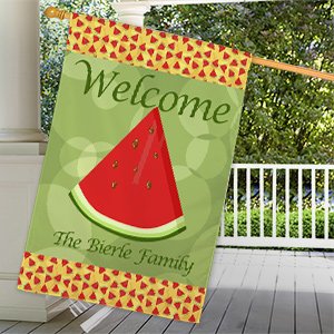 Personalized Watermelon House Flag | Personalized House Flags