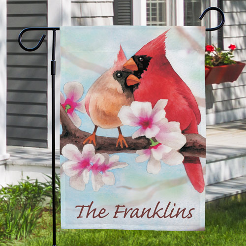 Personalized Spring Cardinals Garden Flag 83040302