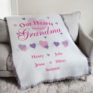 Personalized Our Hearts Belong To Tapestry Throw Blanket | Personalized Blankets