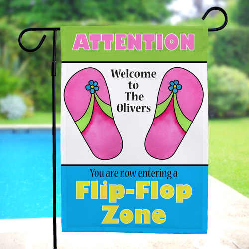 Personalized Flip Flop Zone Garden Flag 83042712