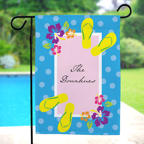 Personalized Flip Flops Garden Flag 83043362