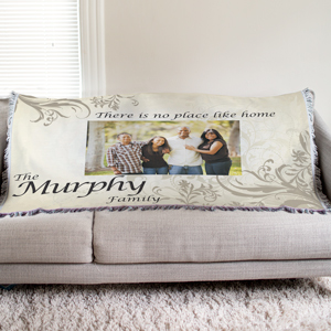 Personalized Family Photo Tapestry Throw Blanket | Personalized Blankets