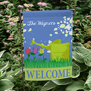 Personalized Watering Can Garden Flag 83049422