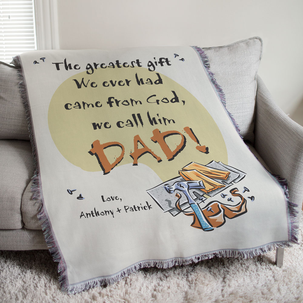 Personalized Greatest Gift Tapestry Throw Blanket 8304965