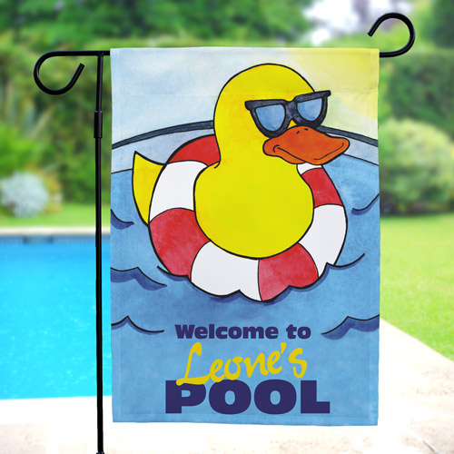 Personalized Cool Duck Swimming Pool Garden Flag 83052372