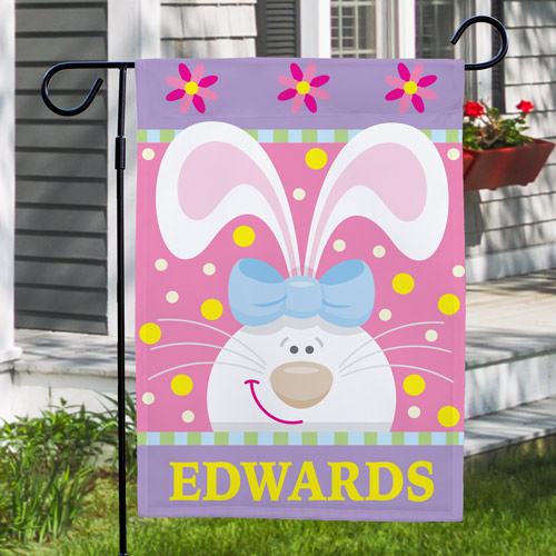 Personalized Easter Bunny Garden Flag 83055442