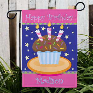 Personalized Birthday Cake Garden Flag 83055482