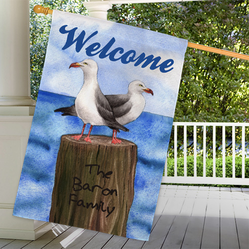 Personalized Summer House Flag 83055952L