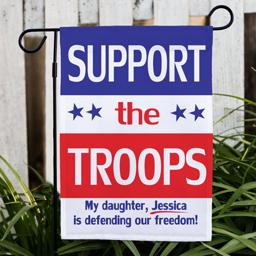 Personalized Support Our Troops Garden Flag 8305622