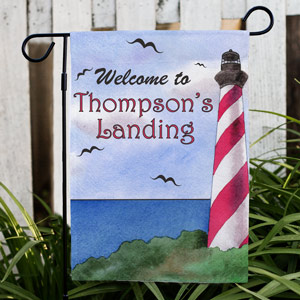 Personalized Lighthouse Garden Flag | Personalized Garden Flags