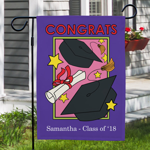 Personalized Graduation Garden Flag For Her | Graduation Gifts