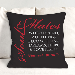 Personalized Soul Mates Throw Pillow | Valentine Pillows