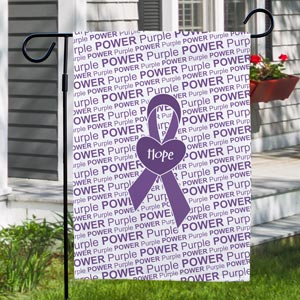 Personalized Awareness Ribbon Garden Flag 83059812