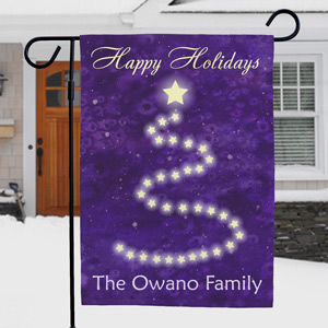 Personalized Happy Holidays Christmas Garden Flag | Personalized Christmas Flags