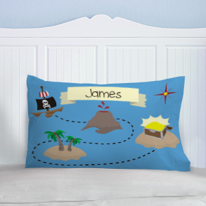 Personalized Pirates Treasure Map PIllow | Personalized Pillowcases