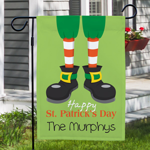 Personalized Happy St. Patrick's Day Garden Flag 83062552