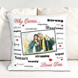 Personalized Why I Love You Throw Pillow | Valentine Pillow Cases