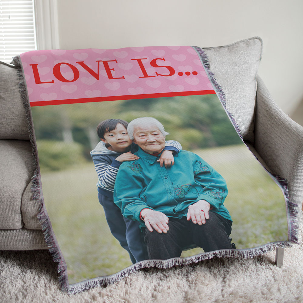 Love Is...Photo Tapestry Throw Blanket | Romantic Home