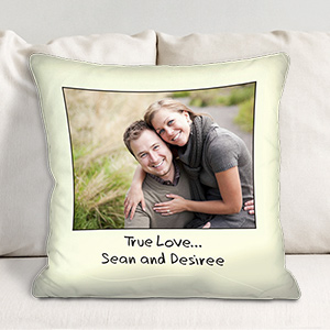 Custom Message Photo Throw Pillow 83062723
