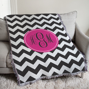 Monogram Madness Throw Blanket | Personalized Afghan