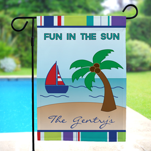 Personalized Summer Fun Garden Flag 83067182